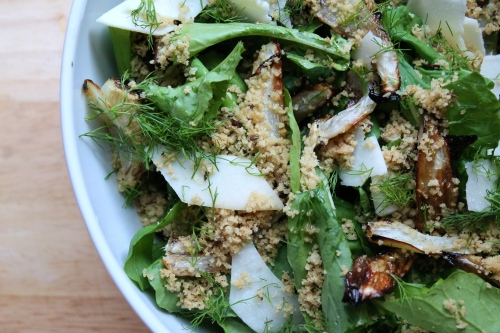 Arugula & Fennel Salad with Toasted Breadcrumbs   Peace, Love, and Food
