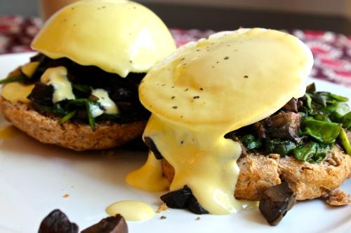 Truffle Mushroom Eggs Benedict   Peace, Love, and Food