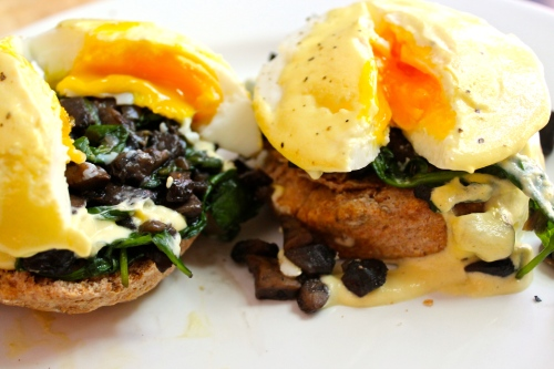 Truffle Mushroom Eggs Benedict | Peace, Love, and Food