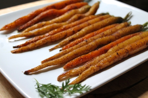 Curry Roasted Baby Carrots | Peace, Love, and Food