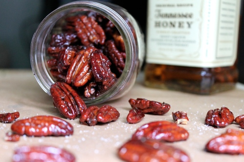 Honey Whiskey Roasted Pecans | Peace, Love, and Food